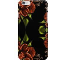 Painted Wild Rose 02 iPhone Case/Skin