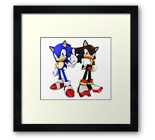 Sonic and Shadow - Sonic the Hedgehog Framed Print