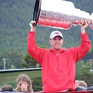 Danny Cleary with Stanley Cup by Marlene  Bowering