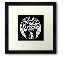 Viking Raven - White Framed Print
