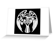 Viking Raven - White Greeting Card