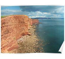 Devon: Red sandstone cliffs Poster