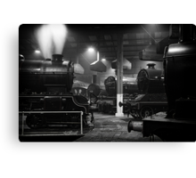 Morayshire smoking in the roundhouse. Canvas Print