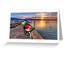 Gone Fishing with Ash Ketchum Greeting Card