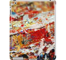 Abstract white red iPad Case/Skin