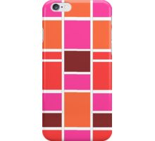 Retro Blocks in Cherry iPhone Case/Skin