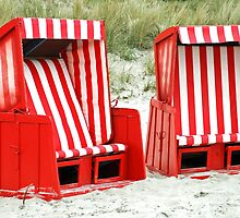 Beach chairs by Arie Koene