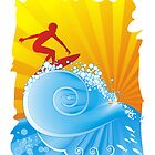 Surfer by piscari