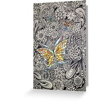 Butterfly Ink Greeting Card
