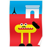 Mister O, the Fancy Moustache and the Beret do Paris Poster
