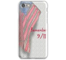 Remember 9/11 Flag iPhone Case/Skin