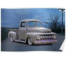 1951 Ford 'Work in Progress' Custom Pickup Poster