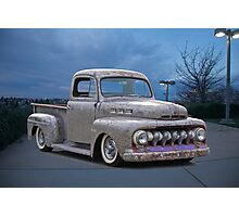 1951 Ford 'Work in Progress' Custom Pickup Photographic Print