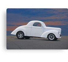 1941 Willys Coupe 'Ain't No Beluga' Canvas Print
