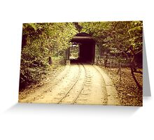 Tunnel & track Greeting Card