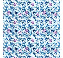 Ipomea Flowers - Morning Glory Floral Pattern Photographic Print