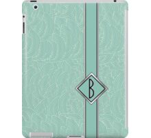 1920s Blue Deco Swing with Monogram letter B iPad Case/Skin