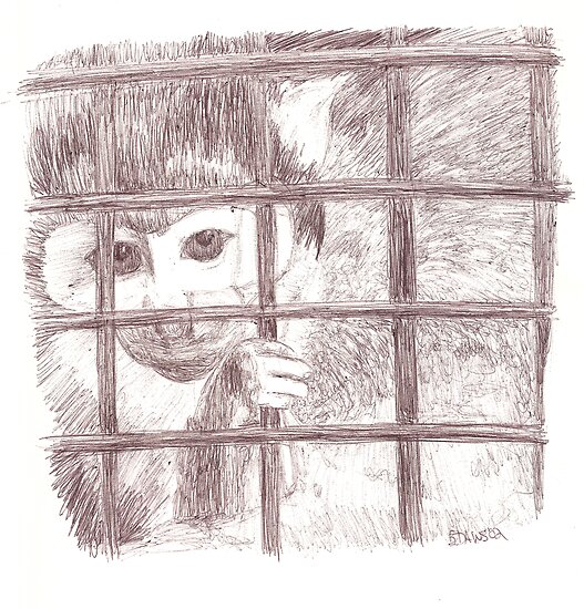 Squirrel Monkey Sketch by Equinspire