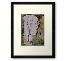 when winter ends Framed Print