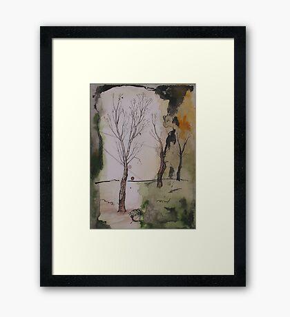 when winter ends Framed Print