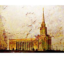 West Jordan LDS Temple Photographic Print