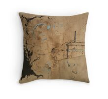 nocturnal excursions in an empty seaside Throw Pillow