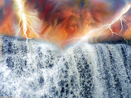 His voice is over many waters, the God of glory thunders! by lillis