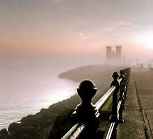 Reculver In Mist by Gareth Holloway