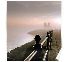Reculver In Mist Poster