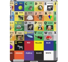 Visual learning for kids iPad Case/Skin