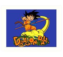 Kid Goku - Dragon  Ball Art Print