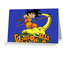 Kid Goku - Dragon  Ball Greeting Card