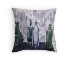 Bottles and Waterfall Throw Pillow