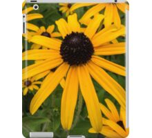 Green insect on leaf of yellow flower iPad Case/Skin