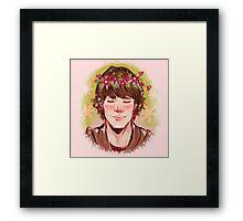 Flower Crown Sam Framed Print