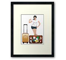 Traveling Girl 2 Framed Print