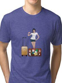 Traveling Girl 2 Tri-blend T-Shirt