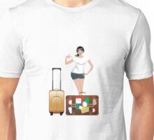 Traveling Girl 2 Unisex T-Shirt