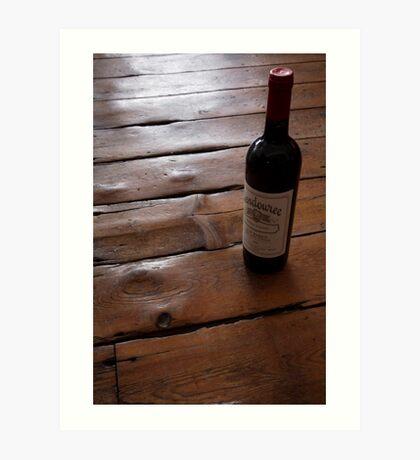 wine art #12, Wendouree on the floor 1 Art Print