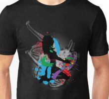 Illustration of a music DJ Unisex T-Shirt
