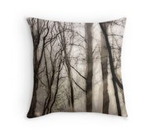 Mist Clearing at Bower Heath Throw Pillow