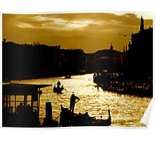 CANAL LIFE IN VENICE Poster