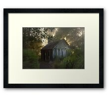 The slab hut . . . Framed Print
