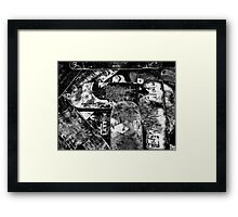 Love to Grind 2 B & W Framed Print