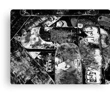 Love to Grind 2 B & W Canvas Print