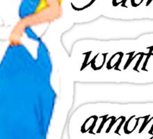 Alice Amongest The Mad Sticker