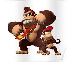 DK and Diddy Kong - Donkey Kong Poster