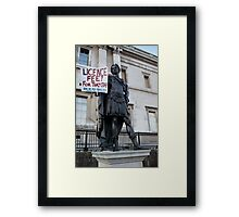iProtest__the licence fee Framed Print