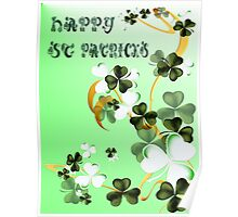 Happy Shades Of Shamrocks Poster