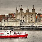 The Little Red Boat and The Tower of London by Anthony Hedger Photography